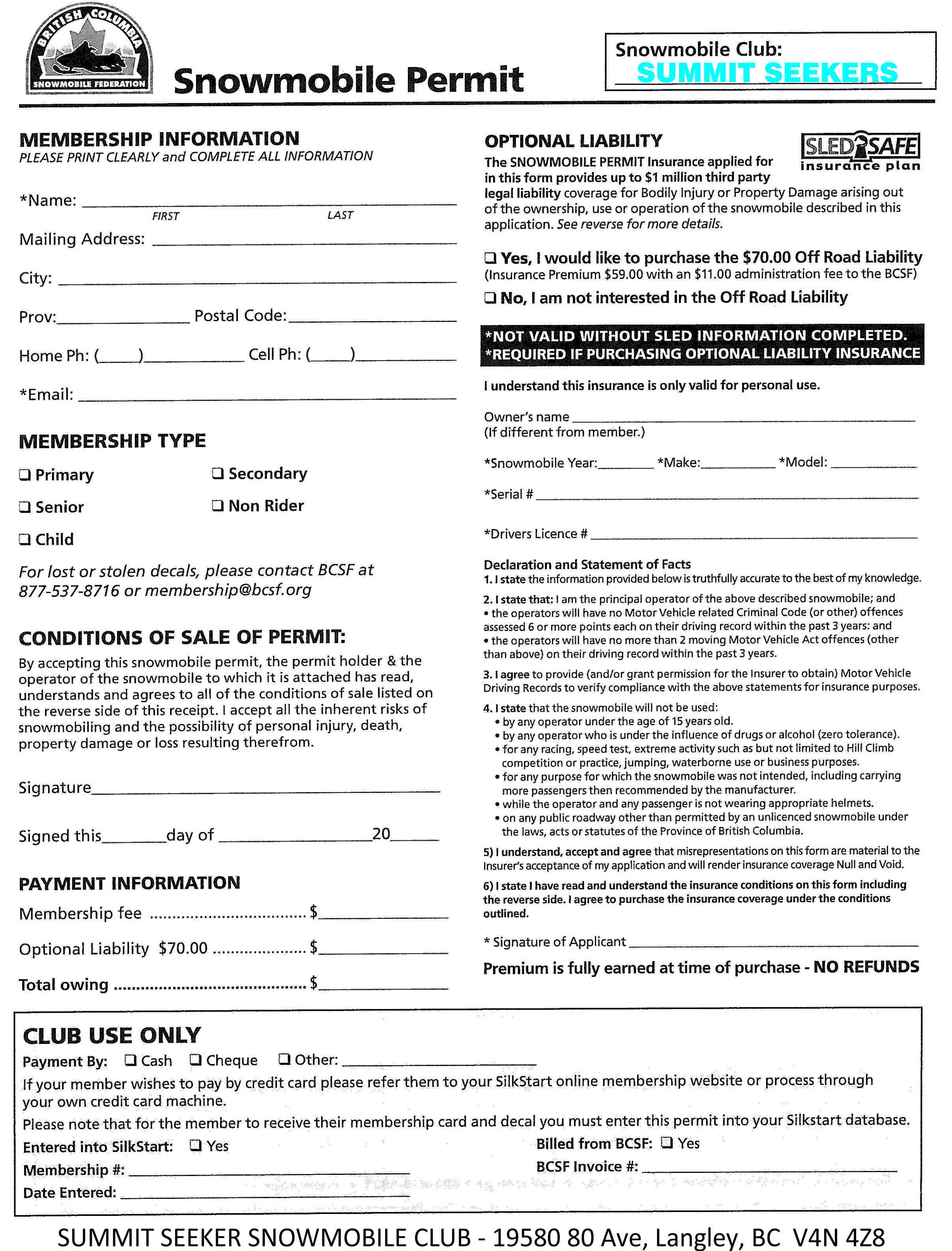 For a printable PDF or printed paper version of membership form,  please contact us and we will gladly email one to you.