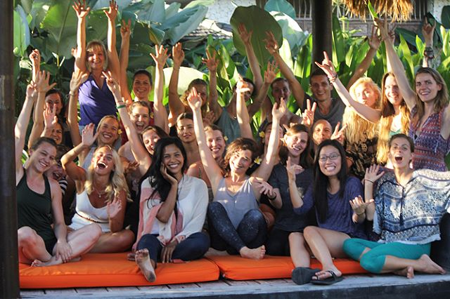 Salute 🙏🏽 to this great bunch of new #yogateachers, your enthusiasm and effort made the last month such a joy! . #graduation #yogateachertraining #balivibes