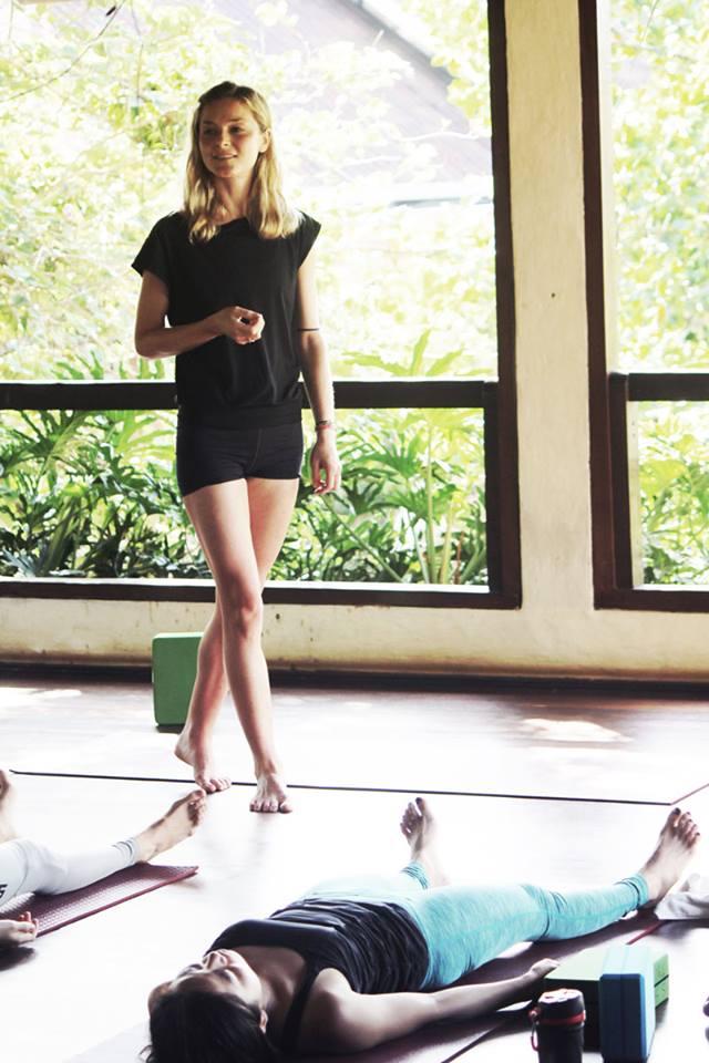 Julia teaching her final class in Bali.