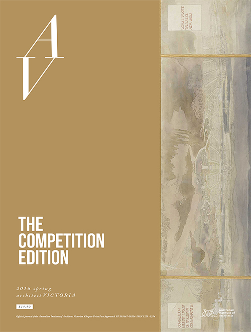 We guest edit 'The Competitions Edition' for Architect Victoria spring 2016. Find issues  here .