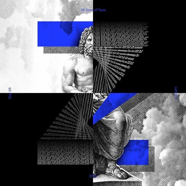 Zzzeus 😴🏛 — #36daysoftype #36daysoftype_Z #36daysoftype06 #collaboration #design #typography #typedesign #displaytype #abstract  #zzz #sleepy #zeus #tdkpeepshow