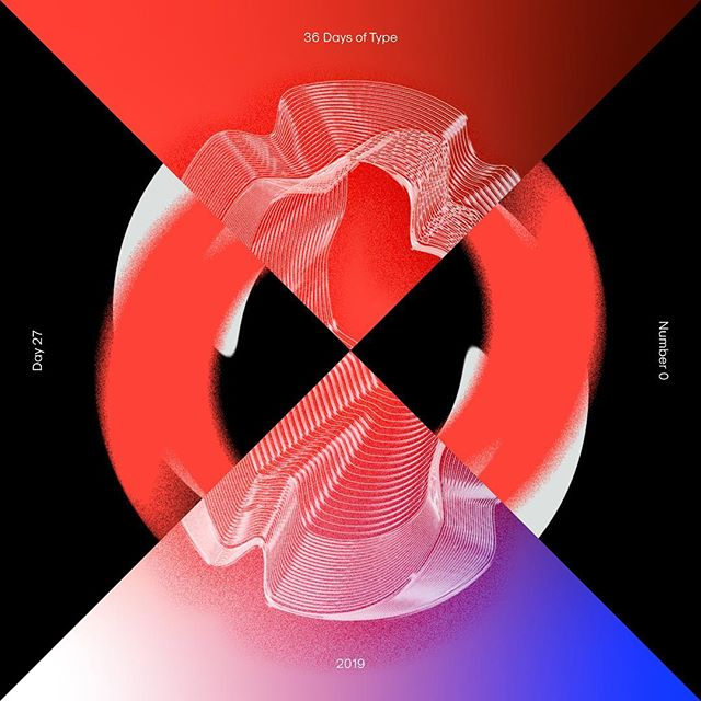 Zero references 🙃👌 — #36daysoftype #36daysoftype_0 #36daysoftype06 #collaboration #design #typography #typedesign #displaytype #abstract #warped #zero #tdkpeepshow
