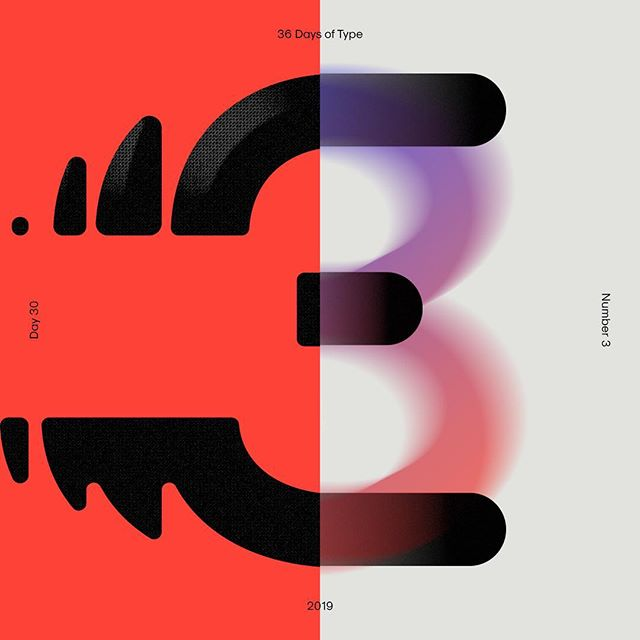 Strike 3! 🙅♀️🙅♀️🙅♀️ — #36daysoftype #36daysoftype_3 #36days_3 #36daysoftype06 #collaboration #design #typography #typedesign #displaytype #abstract #three #tdkpeepshow