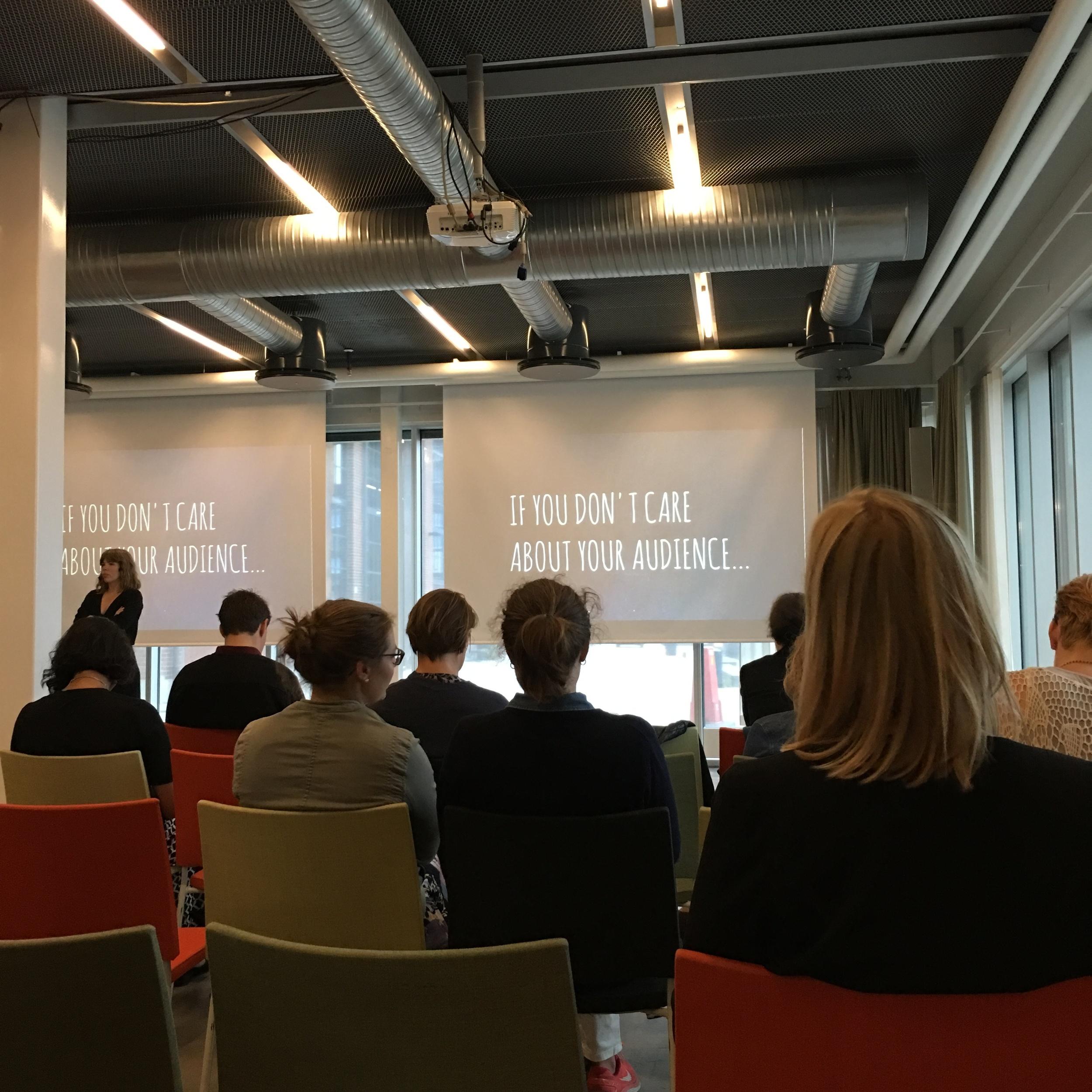 Maria Dietrichson  digital utvecklingsredaktör på Sverigesradio  delar med sig av perspektiv påpublikutveckling.