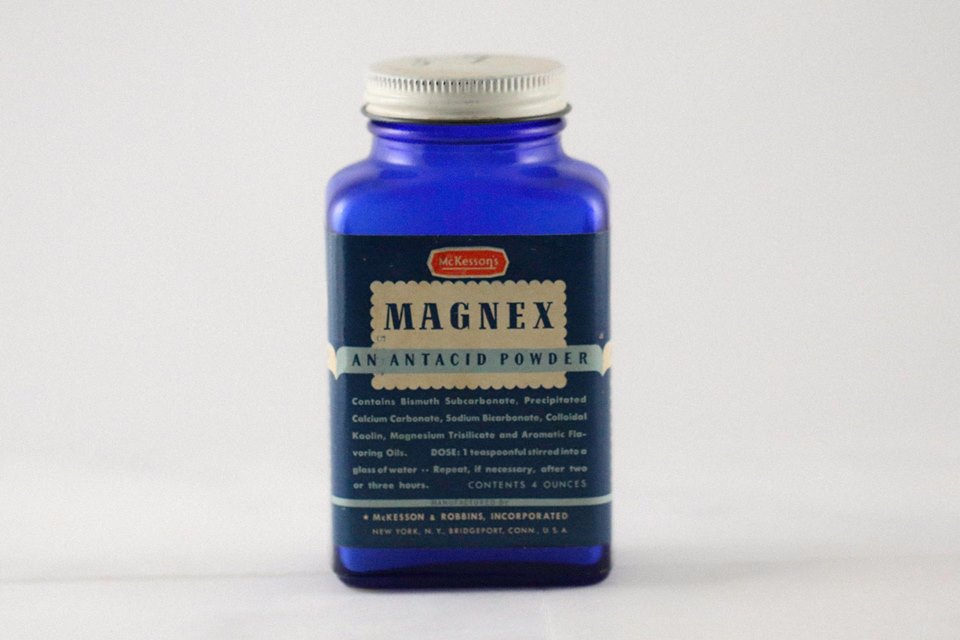 Antique Magnex bottle sent to the Allotropy Design Studios
