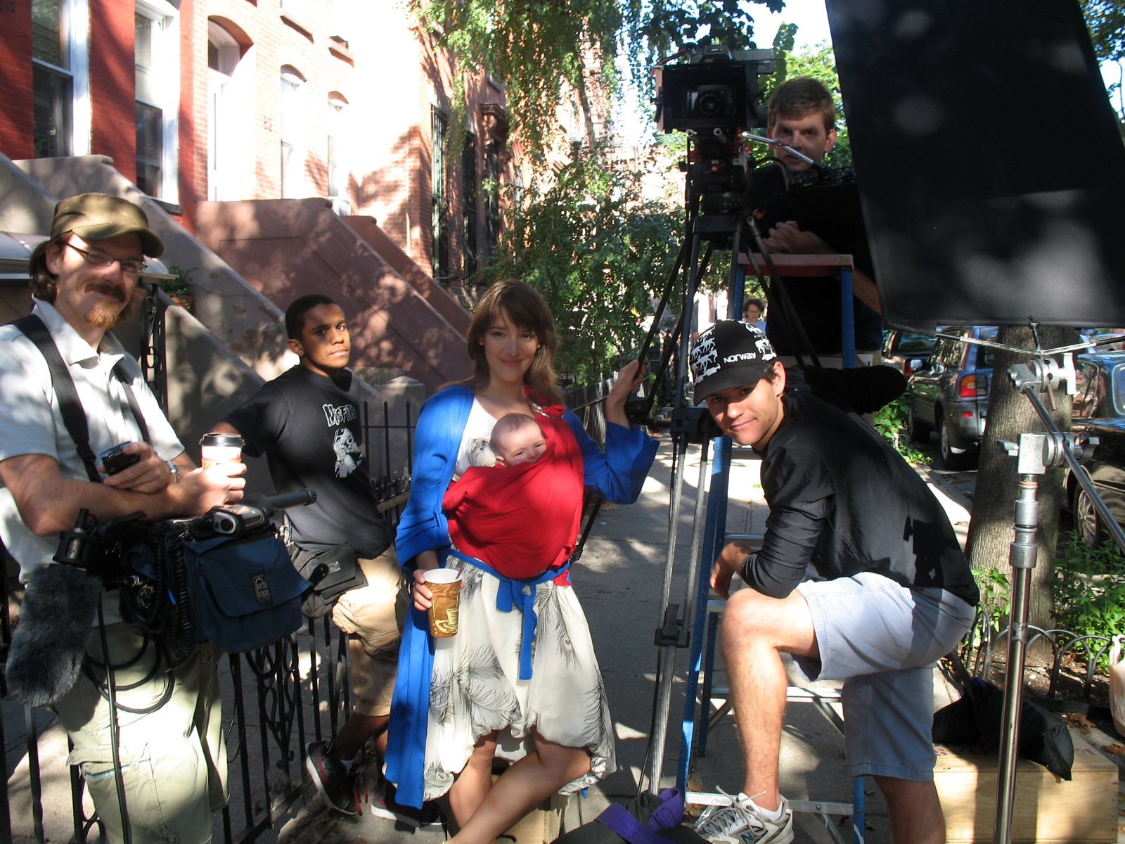 Shooting 'Damn it, Andy' in NYC with daughter Emma