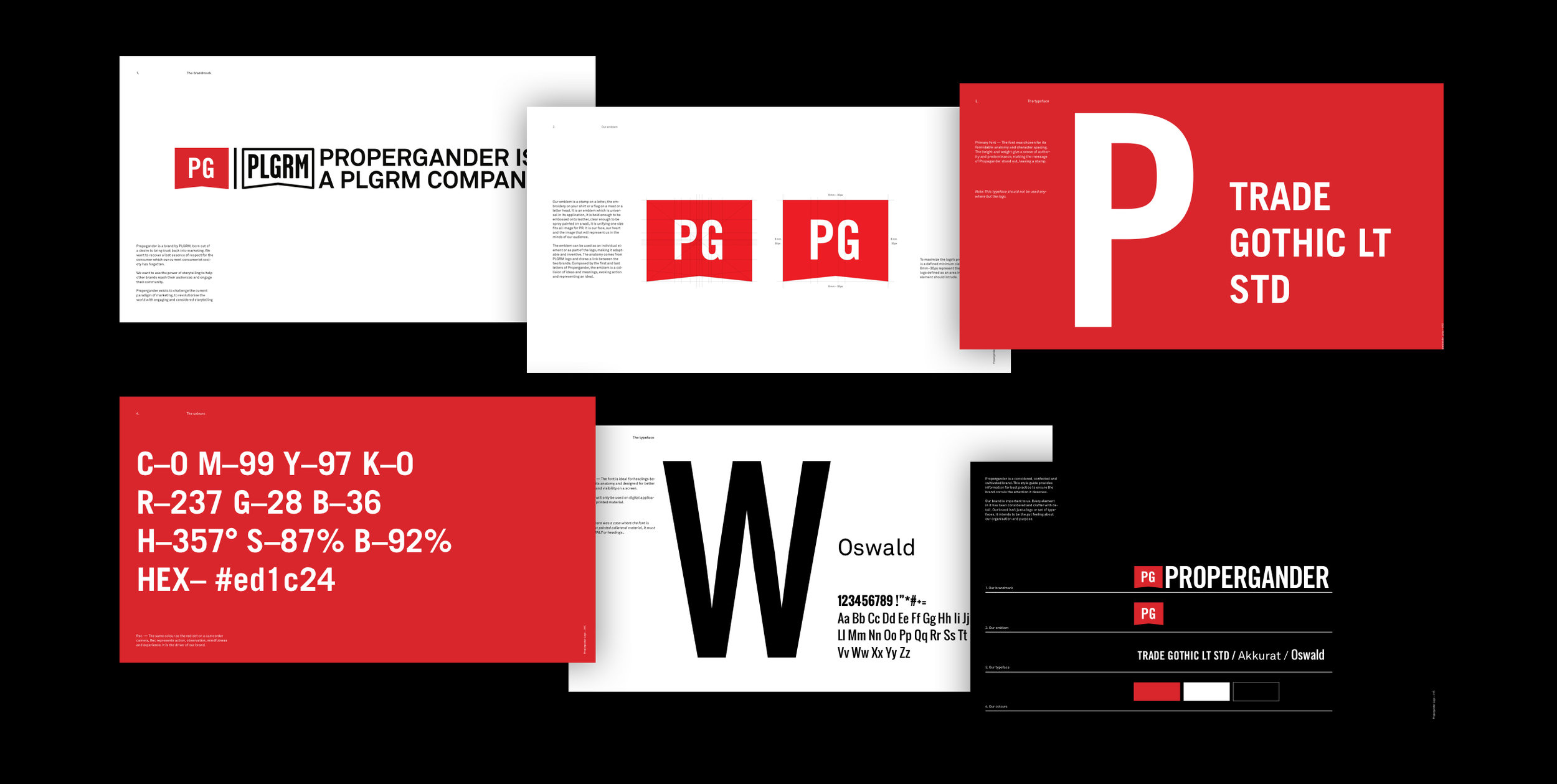 Detailed view of the final brand guidelines