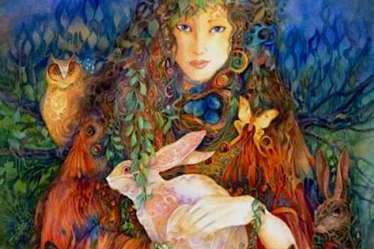 Goddess Ostara by Helen Nelson-Reed