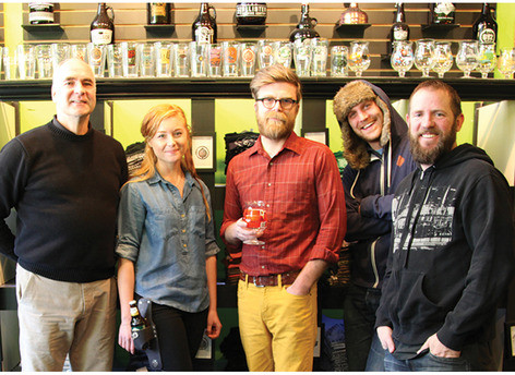From left: ACC artist Willie Willette, Brittany Pool, and Michael Smith of Brownsmith Restoration, Joe Alton, editor of The Growler, the Beer Dabbler's bi-monthly print magazine, and Matt Kenevan, owner of the Beer Dabbler.   Show Dates:  Friday, April 11: 10 a.m. - 8 p.m. Saturday, April 12: 10 a.m. - 6 p.m. Sunday, April 13: 11 a.m. - 5 p.m.  Please come and check out the show. More details about the show can be found on the American Craft council's  website .