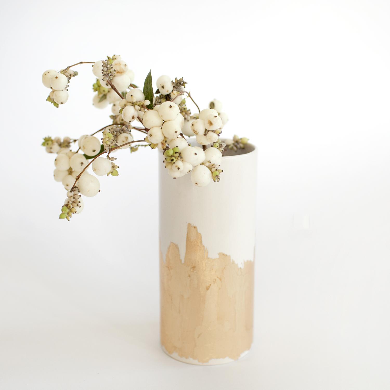 a mano-emily reinhardt-the object enthusiast-ceramic-clay-gold leaf-vase-handmade-1.jpg