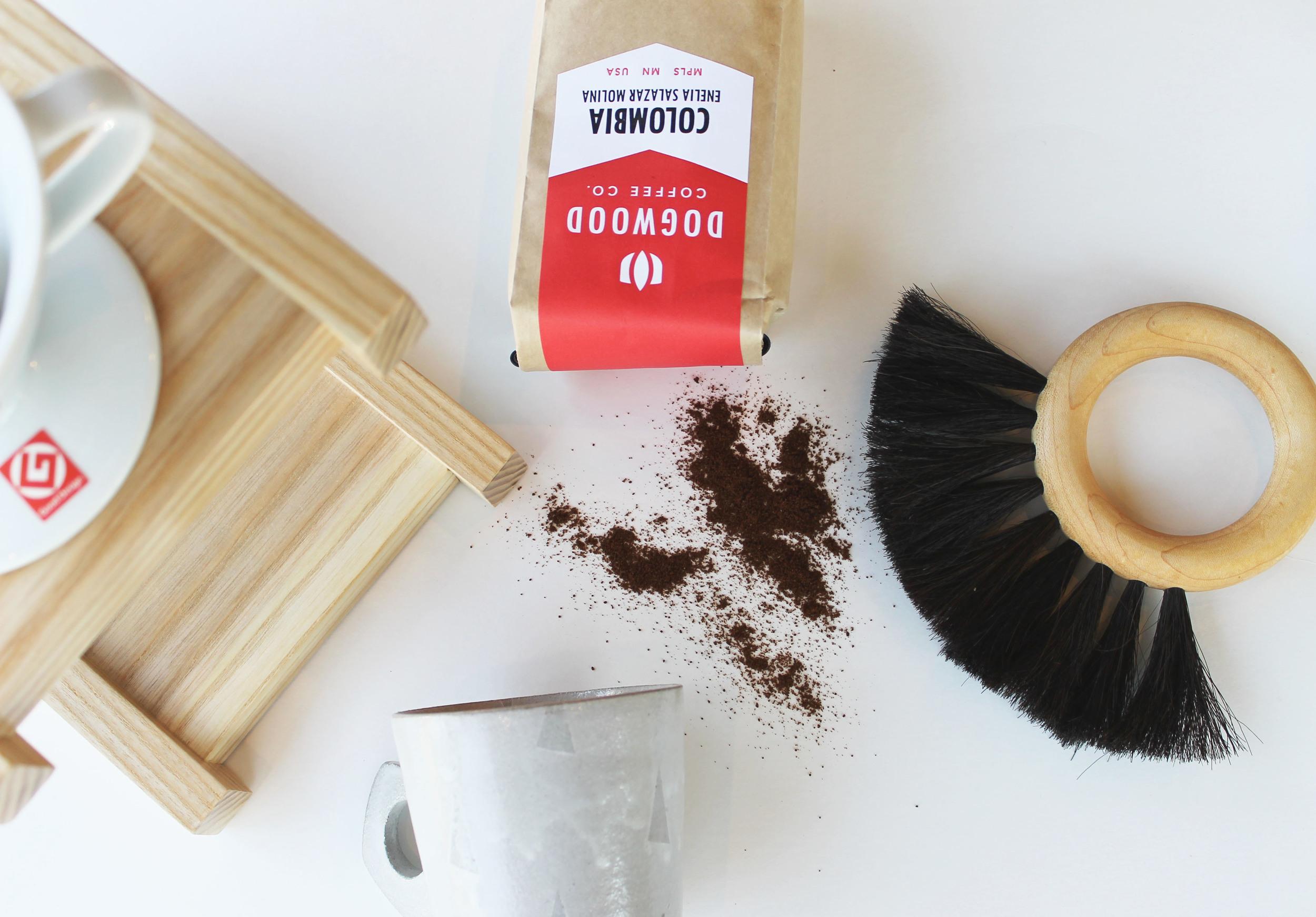 Adam Gruetzmacher Mug  +  Pour-Over Stand  +  Hoop Brush    -For the coffee aficionado.