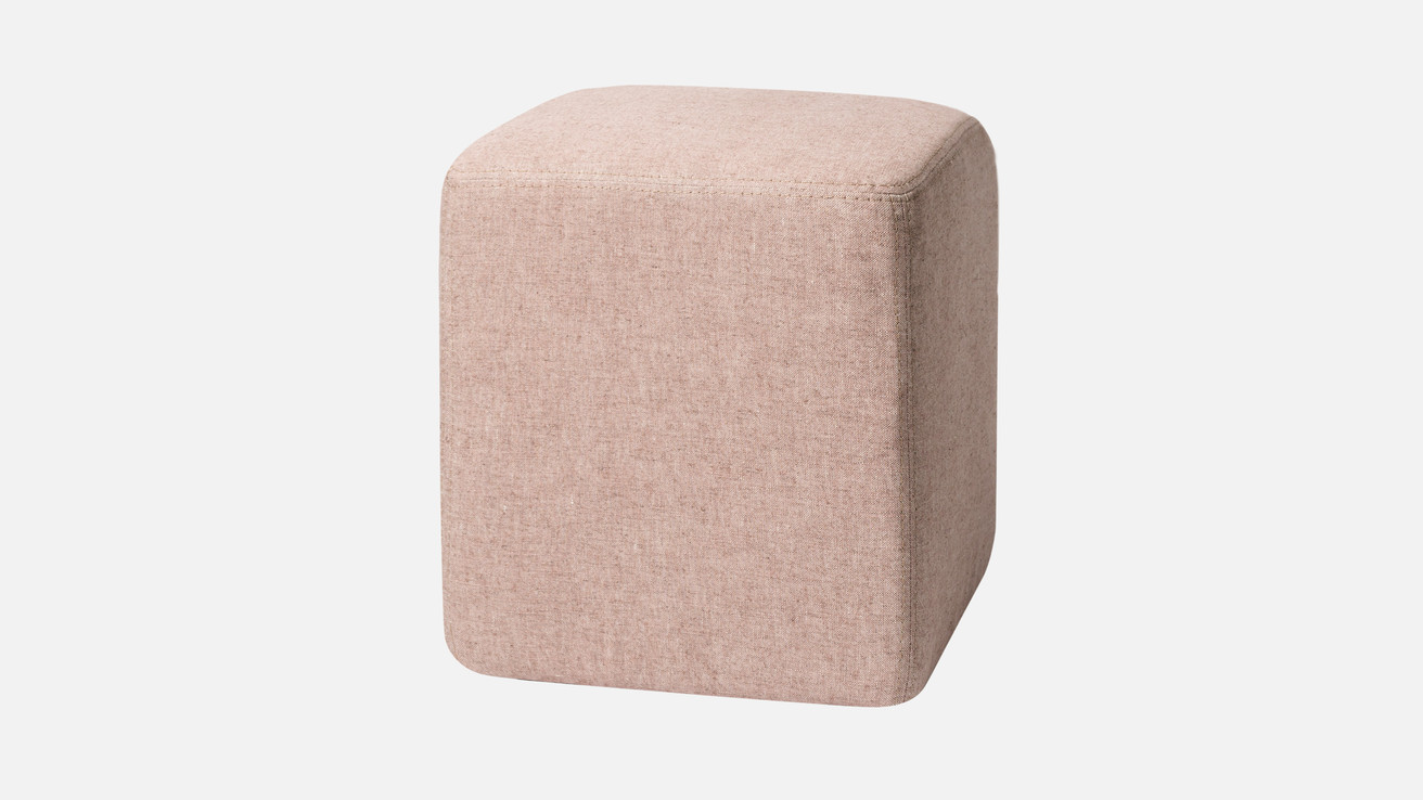 Brick Pouf Cube  in Pink!