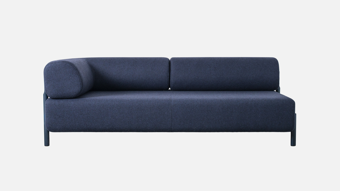 Palo 2-Seater Chaise (Left) in Dark Blue