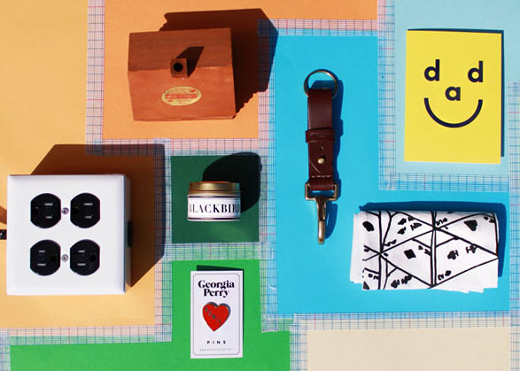 Expo + 4 Power Cord  |   Blackbird Incense  |  Georgia Perry's BOWIE Heart Pin  |  Leatherworks MN Iron Range Key Fob  | Dad Card |  'House of Cards' Handkerchief