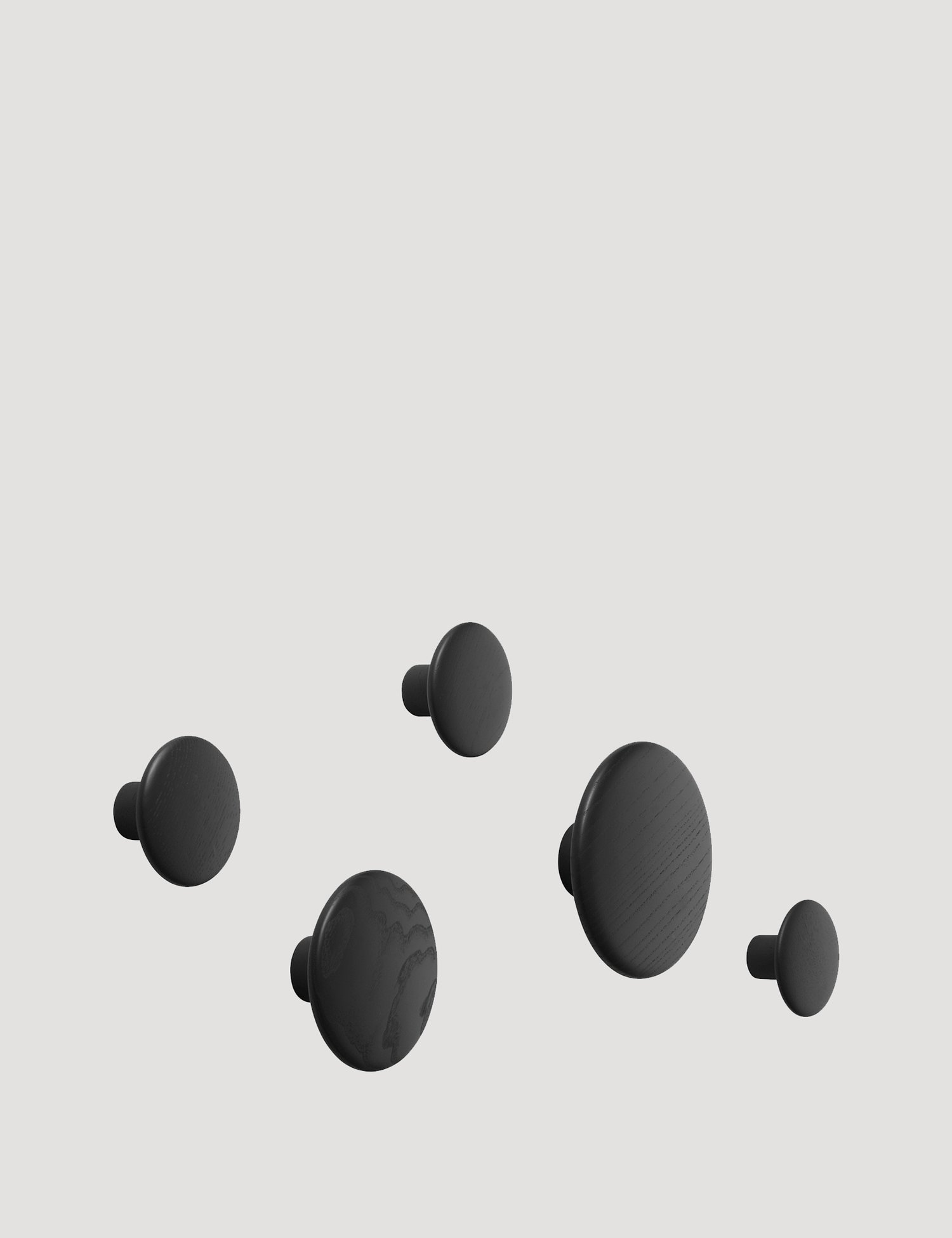The Dots, Set of 5, Black
