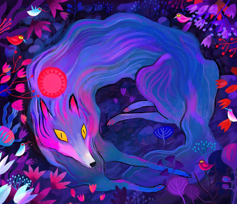 Wolf & Birds