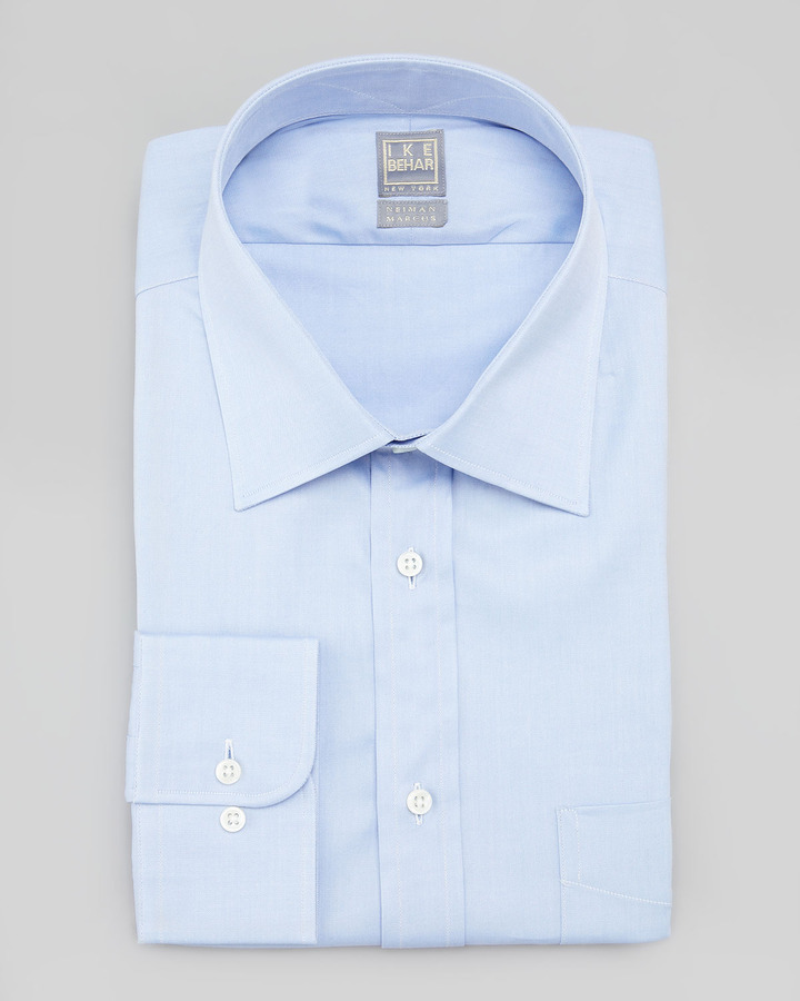 #6 A pale blue shirt - Just as ubiquitous as the white shirt in the office, the blue shirt serves as the subtle alternative and bloom of colour in a man's wardrobe.