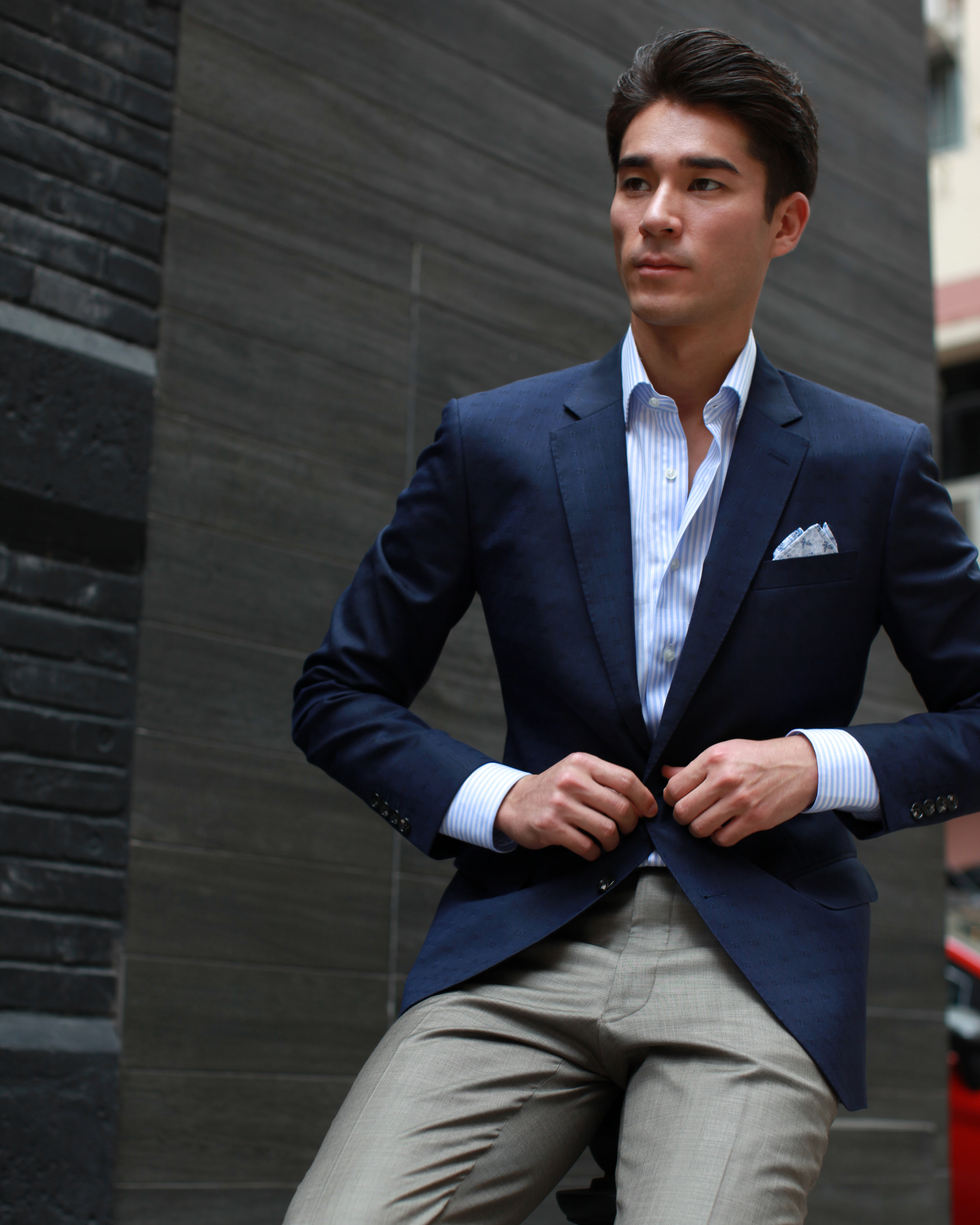 Stay sharp - The high twist yarns in fresco lends your suit a crisp, structured look.  Throw it in your suitcase and it's ready to wear to that meeting right after your morning flight. No wrinkles, no problem.