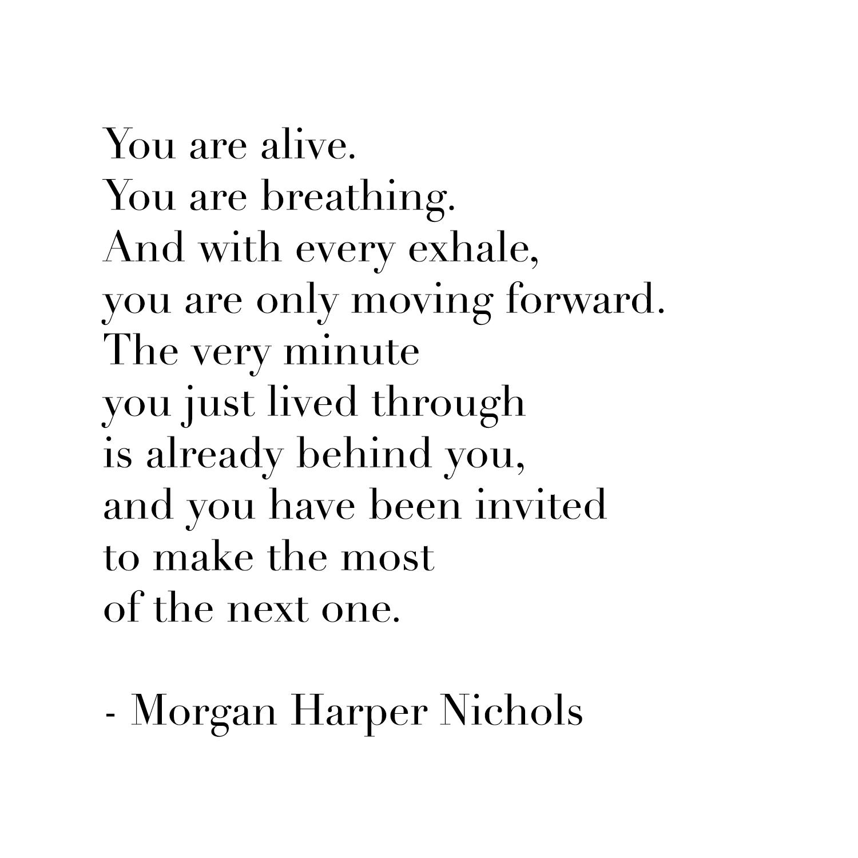 written words by  Morgan Harper Nichols
