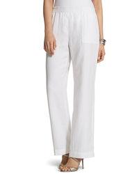 Chico's White Linen Pants