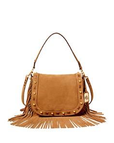 Similar Ralph Lauren Suede Fringe Saddle Bag