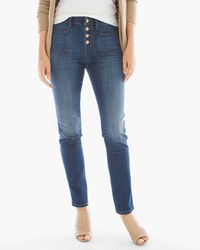 Chico's Buttonfront Ankle Jeans