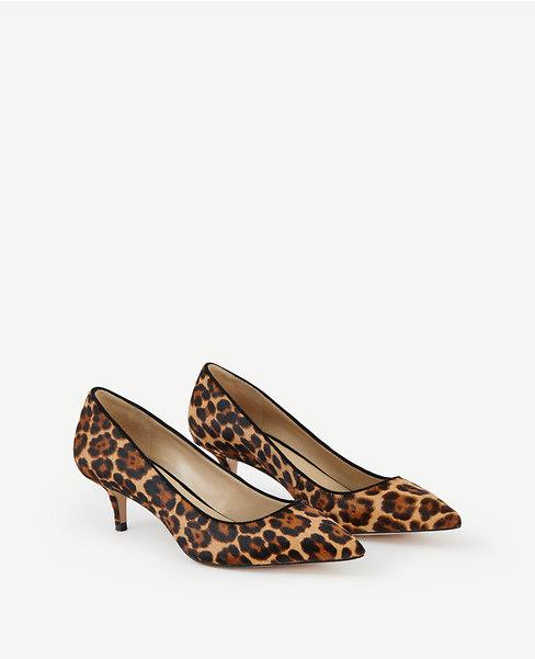 Reese Leopard Print Haircalf Pumps