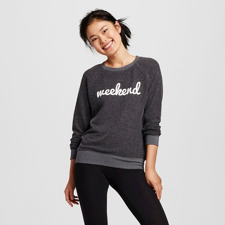 Women's Brushed Cozy Pullover Sweatshirt Charcoal Gray - Grayson Threads