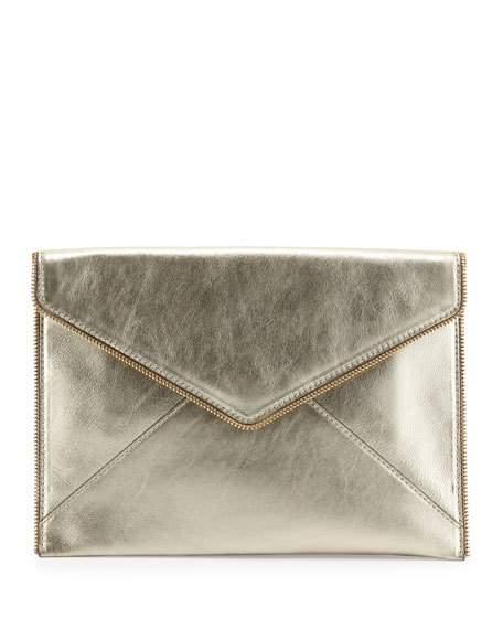 Rebecca Minkoff Leo Metallic Clutch Bag