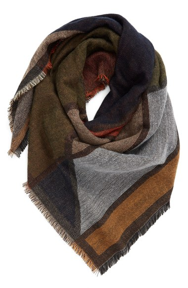 BP. Geo Pattern Woven Square Scarf