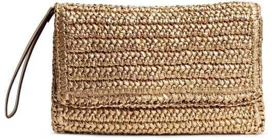 H&M STRAW CLUTCH BAG