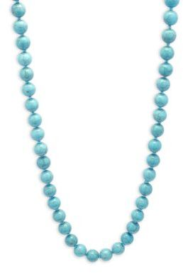 Cara Faux Turquoise Beaded Necklace