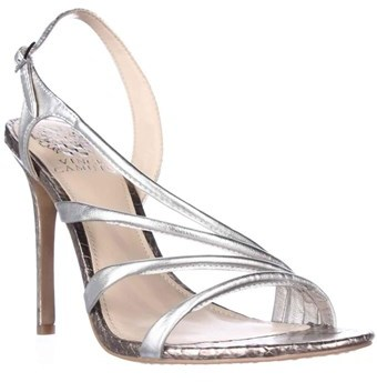 Vince Camuto Tiernan Slingback Strappy Dress Sandals, Silver Gleam