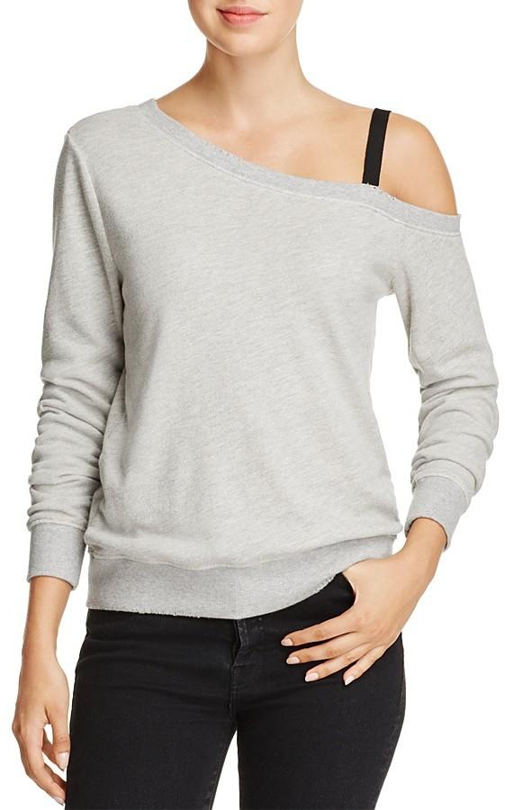 PAM & GELA Asymmetric Cold-Shoulder Sweatshirt