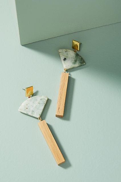 Sophie Monet Mineral Fan Drop Earrings