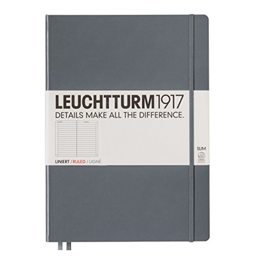 Leuchtturm1917 Hardcover Master Slim Ruled Notebook Anthracite