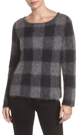 Eileen Fisher Check Plaid Sweater