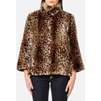 MICHAEL MICHAEL KORS Women's Leopard Print Faux Fur Coat - Leopard Print Fur