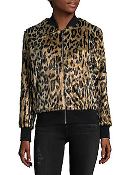 Faux Fur Animal-Print Jacket by: LOVE TOKEN @Saks Fifth Avenue OFF 5TH