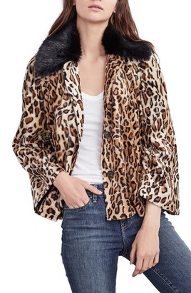Women's Velvet By Graham & Spencer Faux Fur Leopard Jacket