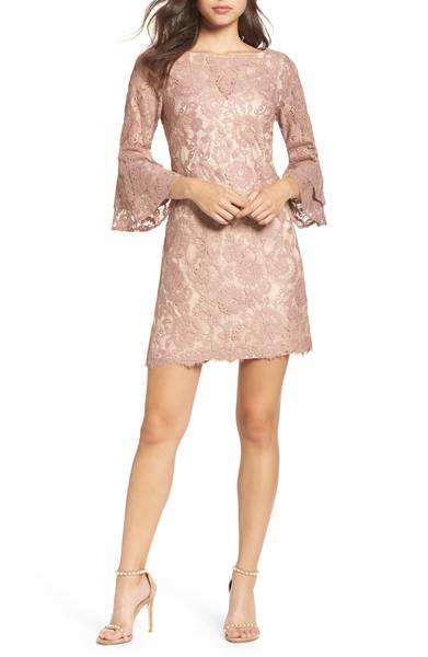 ADD TO FAVORITES Lace Bell Sleeve Dress