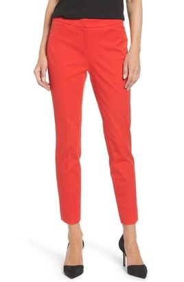 Women's Halogen Front Pleat Ankle Pants,  Red