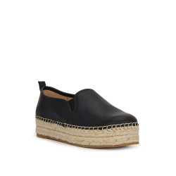 Sam Edelman Carrin Platform Espadrille Black Leather