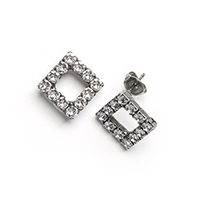 LIGHTNESS OPEN SQUARE STUDS (#S18045)