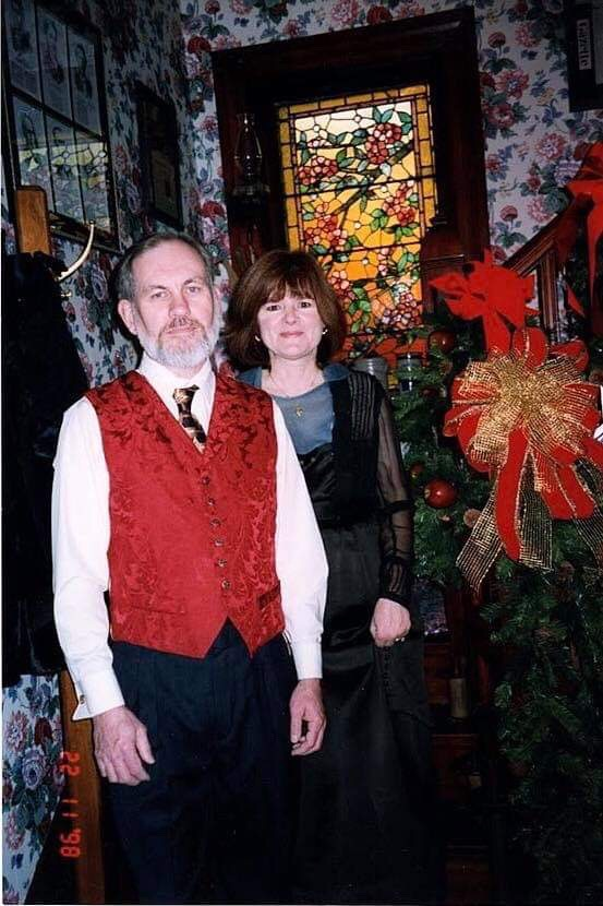A BEFORE pic of Jan with her husband at their B&B.