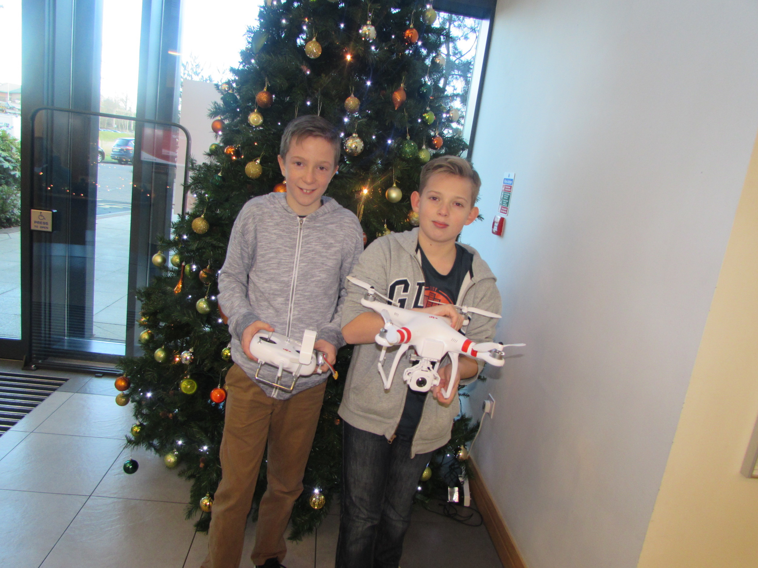 To get an aerial view of the building our experts flew the Lab drone over Bromford....