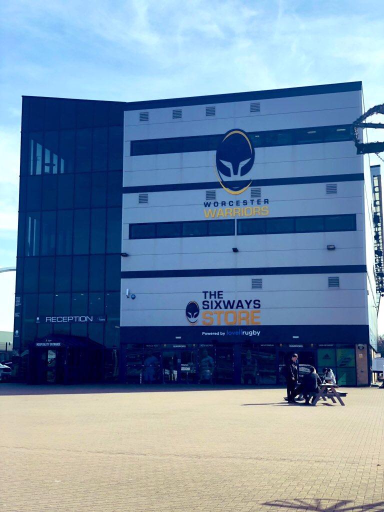 Sixways Stadium….home of the Worcester Warriors!