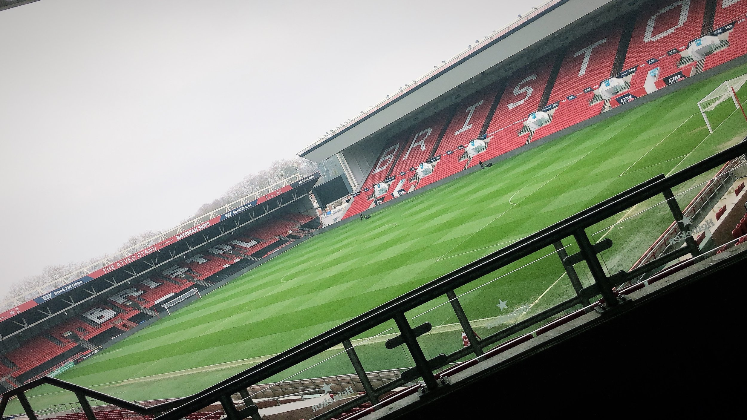 It was nice to see  Ashton Gate Stadium  from a different angle for a change!