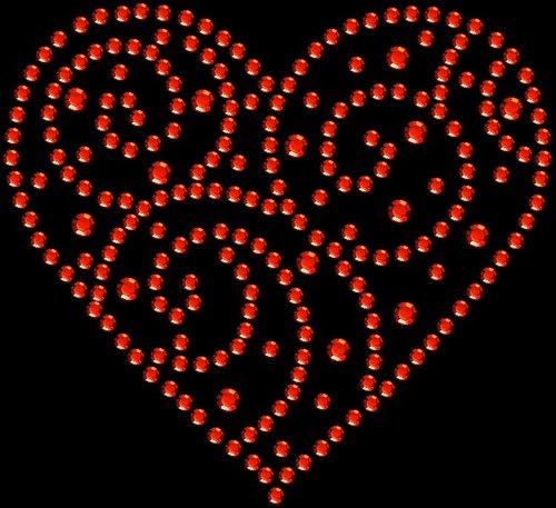 "A901- Swirl Heart  2.5"" W .     Add on price: $1.75"