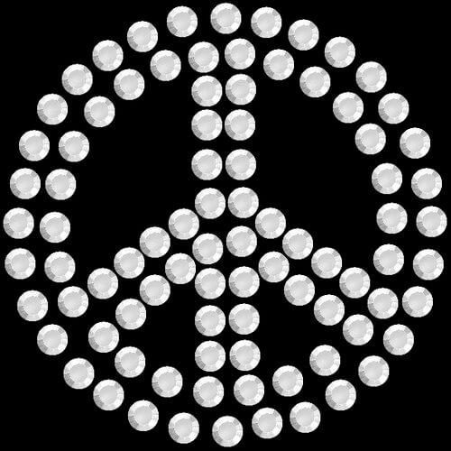 """A903- Peace Sign  2"""" W .     Add on price: $0.75"""
